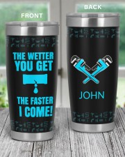 Plumber The Wetter You Get The Faster Personalized 20oz Tumbler aos-20oz-tumbler-lifestyle-front-59