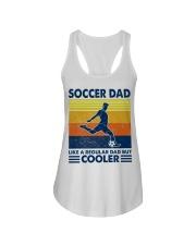 soccer Dad Like a regular dad but cooler Ladies Flowy Tank tile