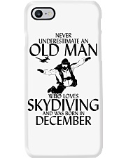 Never Underestimate Old Man Skydiving December Phone Case thumbnail