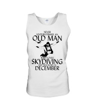 Never Underestimate Old Man Skydiving December Unisex Tank thumbnail