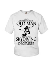 Never Underestimate Old Man Skydiving December Youth T-Shirt thumbnail