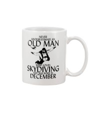 Never Underestimate Old Man Skydiving December Mug thumbnail