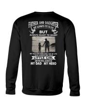 Father And Daughter Not Always Eye To Eye Crewneck Sweatshirt thumbnail