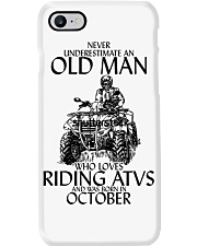 Never Underestimate Old Man ATVs October Phone Case thumbnail