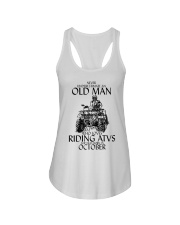 Never Underestimate Old Man ATVs October Ladies Flowy Tank thumbnail
