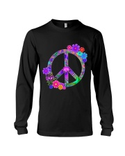 Peace Flower Long Sleeve Tee front