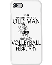 Never Underestimate Old Man Volleyball February Phone Case thumbnail