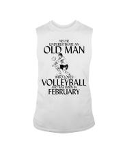 Never Underestimate Old Man Volleyball February Sleeveless Tee thumbnail
