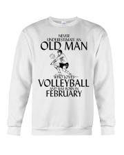 Never Underestimate Old Man Volleyball February Crewneck Sweatshirt thumbnail