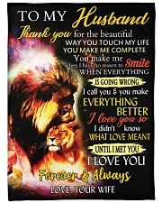 """To My Husband Thank You For The Beautiful Way Large Fleece Blanket - 60"""" x 80"""" front"""