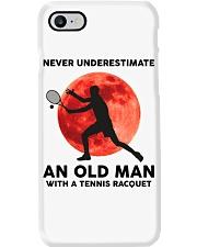 Never Underestimate An Old Man Tennis Racquet Phone Case thumbnail