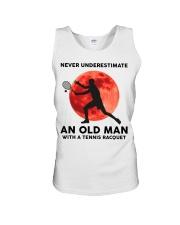 Never Underestimate An Old Man Tennis Racquet Unisex Tank thumbnail