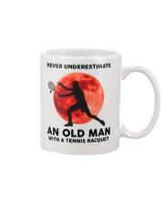 Never Underestimate An Old Man Tennis Racquet Mug thumbnail