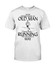 Never Underestimate Old  Man Running May Classic T-Shirt front