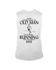 Never Underestimate Old  Man Running May Sleeveless Tee thumbnail