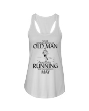 Never Underestimate Old  Man Running May Ladies Flowy Tank thumbnail