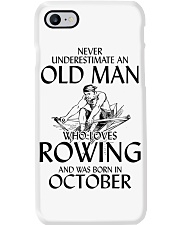 An Old Man Who Loves Rowing And Was Born October Phone Case thumbnail