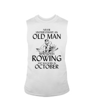 An Old Man Who Loves Rowing And Was Born October Sleeveless Tee thumbnail