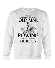 An Old Man Who Loves Rowing And Was Born October Crewneck Sweatshirt thumbnail