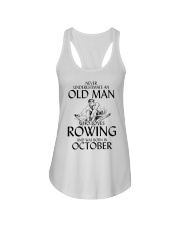 An Old Man Who Loves Rowing And Was Born October Ladies Flowy Tank thumbnail