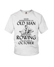 An Old Man Who Loves Rowing And Was Born October Youth T-Shirt thumbnail