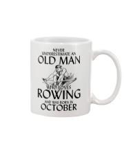 An Old Man Who Loves Rowing And Was Born October Mug thumbnail