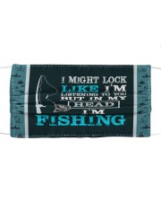 I'm Listening To You But In My Head I'm fishing  Mask tile