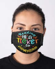 Reading adventure library student teacher  Cloth face mask aos-face-mask-lifestyle-01