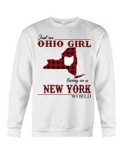 Just An Ohio Girl In New York World Crewneck Sweatshirt thumbnail