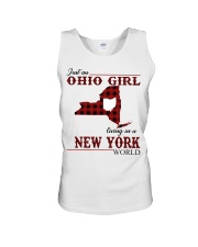 Just An Ohio Girl In New York World Unisex Tank thumbnail