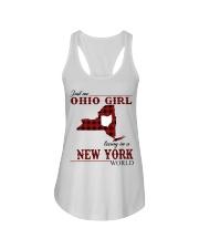 Just An Ohio Girl In New York World Ladies Flowy Tank thumbnail