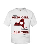 Just An Ohio Girl In New York World Youth T-Shirt thumbnail