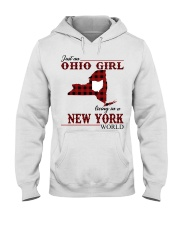 Just An Ohio Girl In New York World Hooded Sweatshirt thumbnail