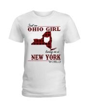 Just An Ohio Girl In New York World Ladies T-Shirt thumbnail