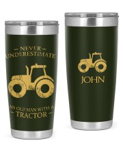 Tractor Never Underestimate Personalized Gift 20oz Tumbler front