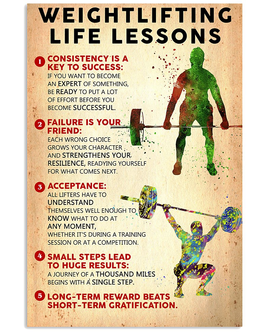 Weightlifting Life Lessons PS00130 24x36 Poster