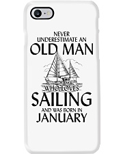 Never Underestimate Old Man Sailing January Phone Case thumbnail