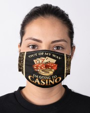 Out Of My Way I'm Going To Casino  Cloth face mask aos-face-mask-lifestyle-01