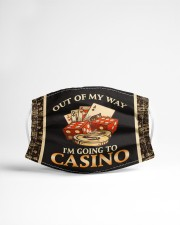 Out Of My Way I'm Going To Casino  Cloth face mask aos-face-mask-lifestyle-22