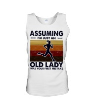 Assuming I'm Just An Old Lady Running Unisex Tank tile