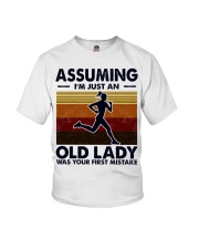 Assuming I'm Just An Old Lady Running Youth T-Shirt tile