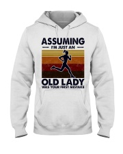 Assuming I'm Just An Old Lady Running Hooded Sweatshirt tile