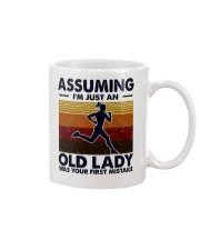 Assuming I'm Just An Old Lady Running Mug tile