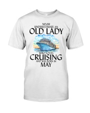 Never Underestimate Old Lady Cruising May Classic T-Shirt front