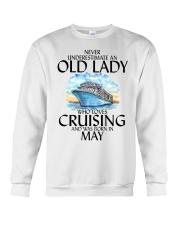 Never Underestimate Old Lady Cruising May Crewneck Sweatshirt thumbnail