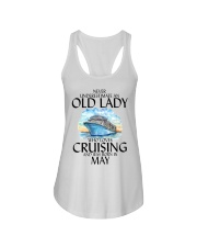 Never Underestimate Old Lady Cruising May Ladies Flowy Tank thumbnail
