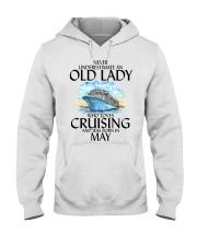 Never Underestimate Old Lady Cruising May Hooded Sweatshirt thumbnail