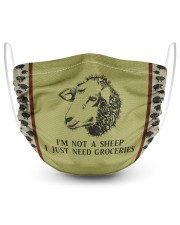 I'm Not A Sheep I Just Need Groceries 2 Layer Face Mask - Single front
