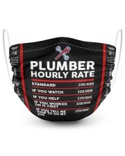 plumber hour mask 2 Layer Face Mask - Single front