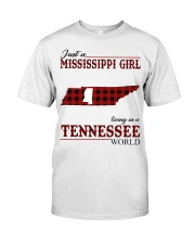 Just A Mississippi Girl In Tennessee World Classic T-Shirt front